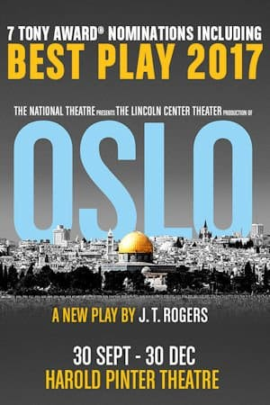 Book Oslo Tickets at the Harold Pinter Theatre