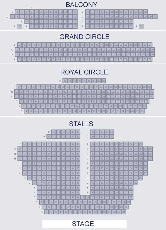 Wyndhams Theatre Seating Plan