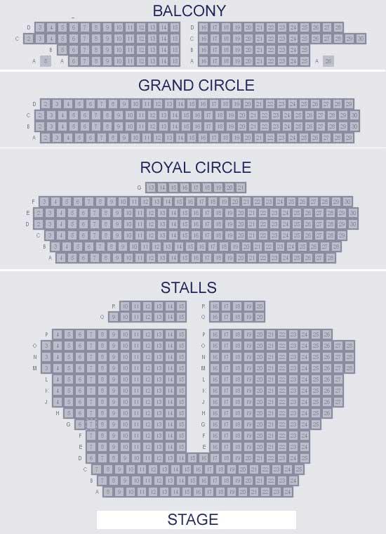 Wyndhams Theatre Seating Plan