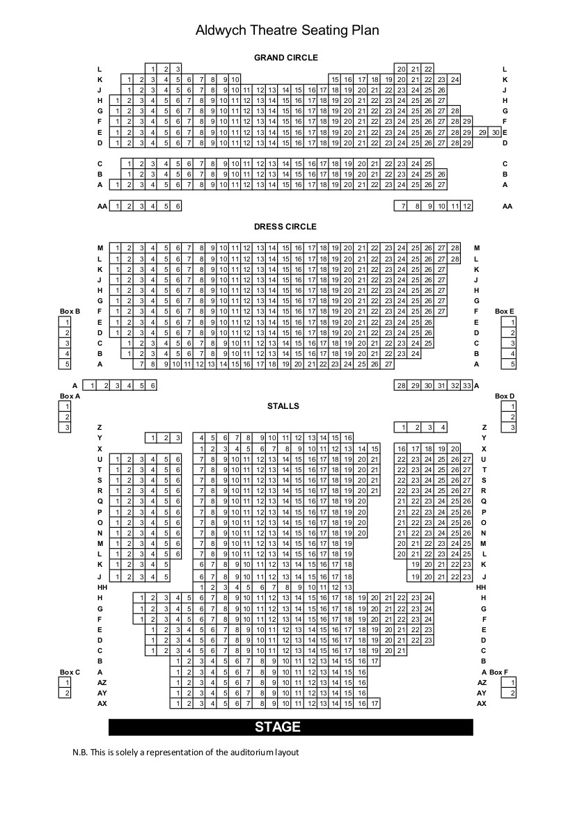 Aldwych Seating Plan