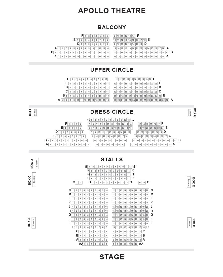 Apollo Theatre Seating Plan