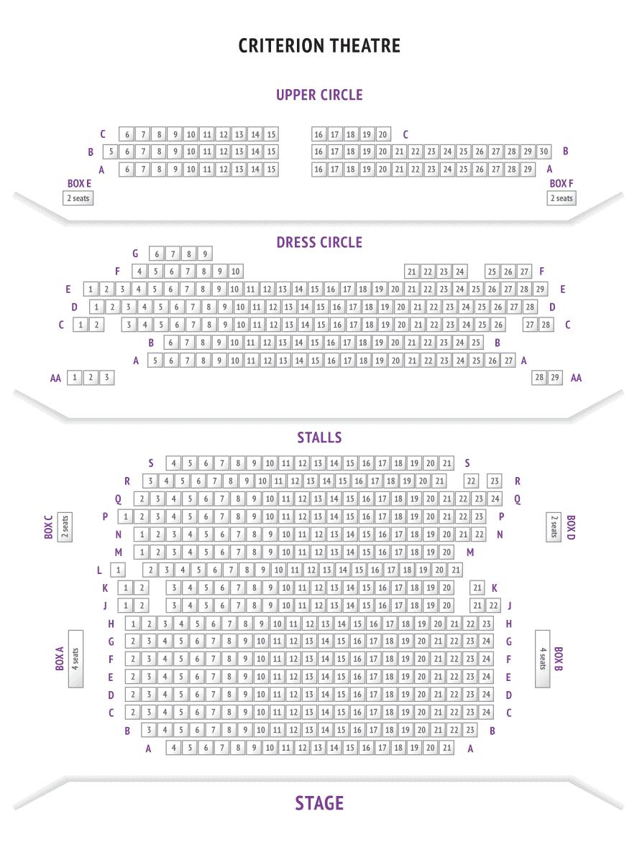 Criterion Theatre Seating Plan