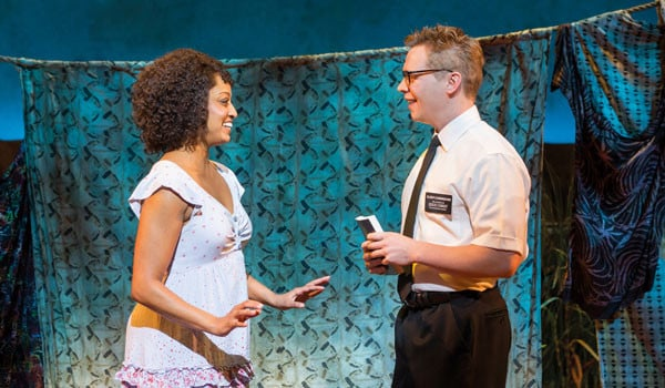Asmeret-Ghebremichael-and-Brian-Sears.-The-Book-of-Mormon-London.-Credit-Johan-Persson-2016