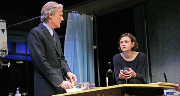 Carey Mulligan and Bill Nighy in Skylight. Wyndhams Theatre