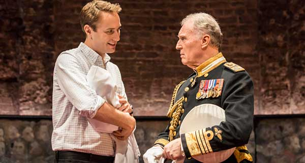 Oliver Chris as William and Tim Pigott-Smith in the title role of King Charles III. Photo: Johan Persson
