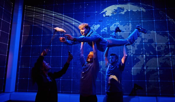 Sion Daniel Young as Christopher in The Curious Incident Of The Dog In the Night-Time. photo: Brinkhoff-Mogenburg