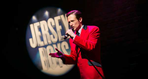 Tim Driesen at the launch of the Jersey Boys tour in Manchester. Photo: Phil Tragen