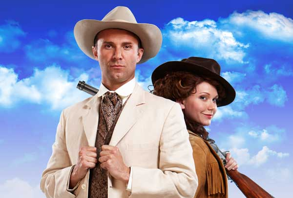 Jonathan Wilkes and Emma Williams in Annie Get Your Gun