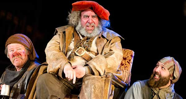 Joshua Richards, Antony Sher and Youssef Kerkour in Henry lV Parts l and ll. Photograph: Tristram Kenton