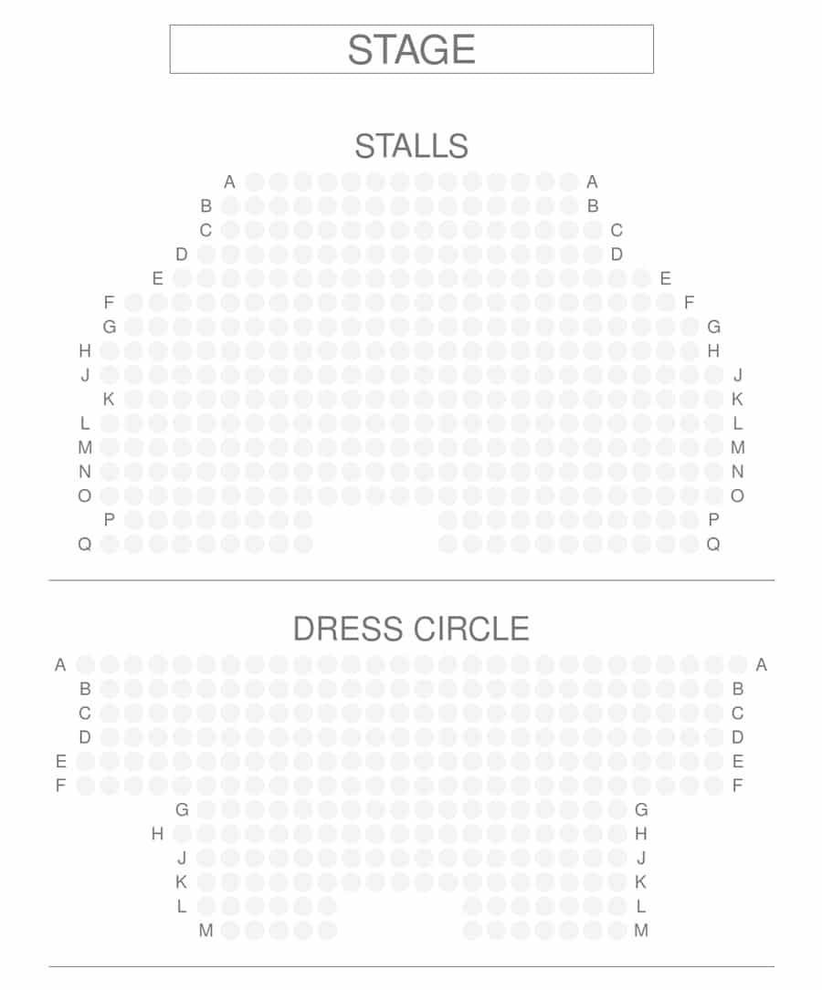 Trafalgar Theatre Seating Plan