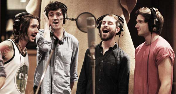 Recording session for The Kinks Sunny Afternoon musical