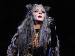 Nicole Scherzinger as Grizabella in Cats. Photo: Alessandro Pinna