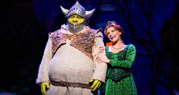 Dean Chisnall stars as Shrek in the 2015-2016 UK tour of Shrek The Musical