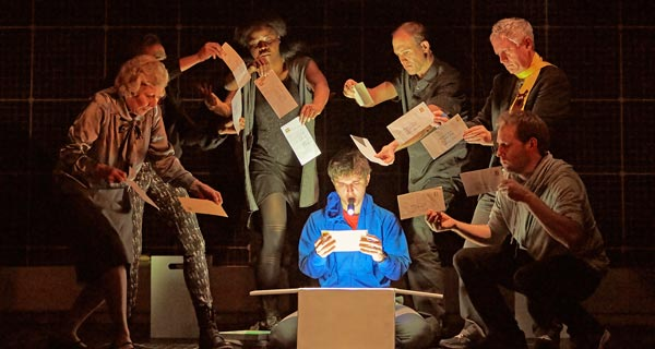 Joshua Jenkins and the cast of The Curious Incident Of The Dog In The Night Time currewntly on tour in the UK