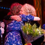 Katie Brayben and Carole King at opening night of Beautiful in London.