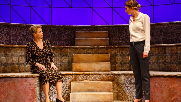 Rebecca Lacey and Lizzy Watts in Merit at The Drum theatre in Plymouth