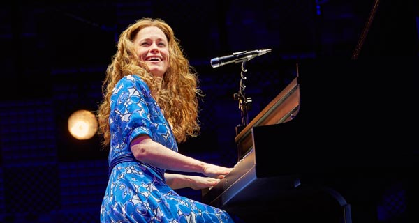 Katie Brayben plays carole King in Beautiful at London's Aldwych Theatre
