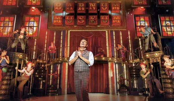 Brian Conley plays PT Barnum in Ct Coleman's Barnum the musical on tour across the UK