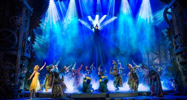 Wicked the musical at the Apollo Victoria Theatre in London