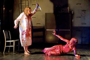 Marin Mazzie and Molly Ranson in Carrie at MCC in 2012