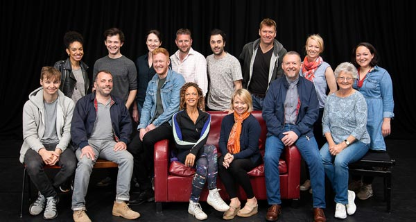 The New Cast of The Curious Incident Of The Dog In The Night Time on their first day of rehearsals.