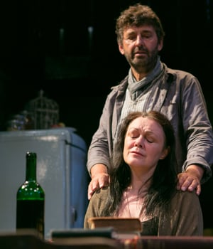 Graham Bickley and Gillian Kirkpatrick in The House Of Mirrors and Hearts at the Arcola Theatre