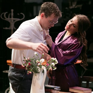 Jamie Muscato and Molly McGuire in The House of Mirrors and Hearts and Arcola Theatre