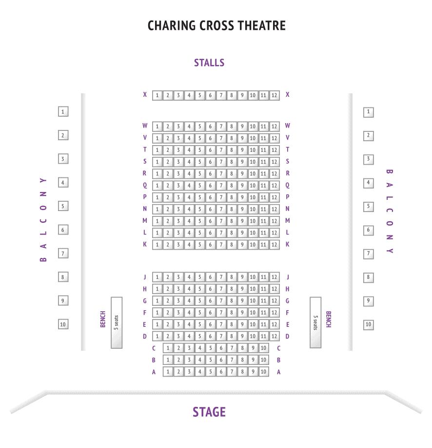 Charing Cross Theatre Seating Plan