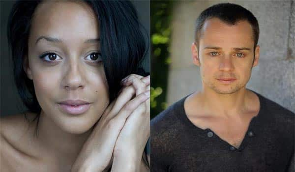 Adelie Leonce and Alex Waldmann star in In the Night Time Before The Sun Rises by Nina Segal at the Gate Theatre