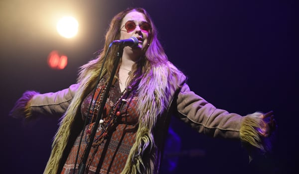 Angie Darcy in Janis Joplin Full Tilt at the Theatre Royal Stratford East