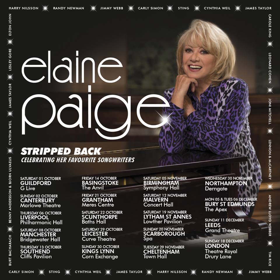 Book now for Elaine Paige Stripped Back UK Tour