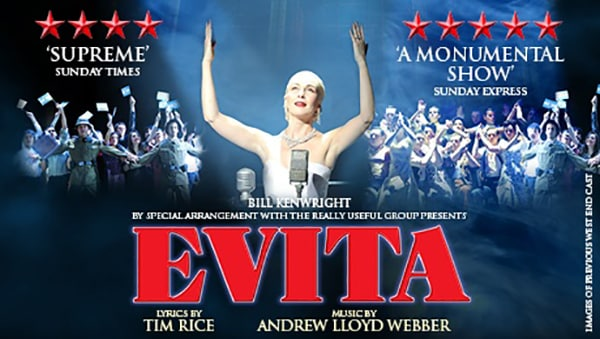 Book now for the Evita UK Tour