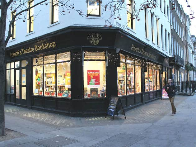Samuel French's London Theatre Bookshop will close in Mid April.