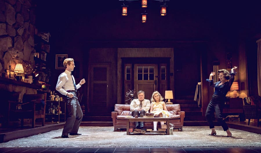 Edward Albee's Who's Afraid Of Virginia Woolf at the Harold Pinter Theatre.