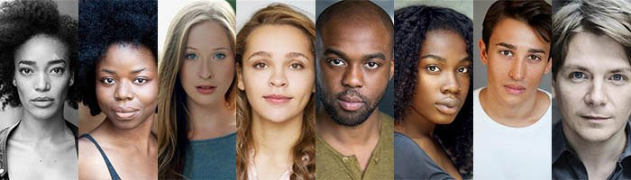 Cast of Octoroon at the Orange Tree Theatre