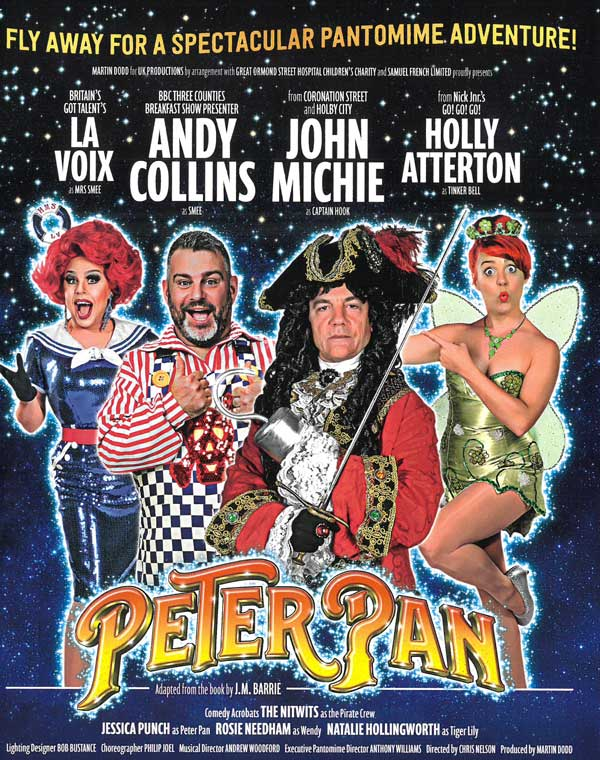 Peter Pan Pantomime at Aylesbury Waterside Theatre