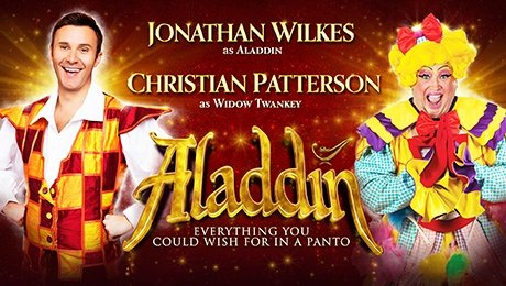 Jonathan Wilkes in Aladdin at regent Theatre Stoke On Trent