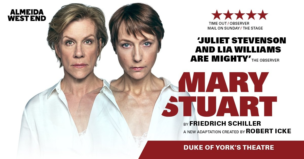 Mary Stuart transfers to the Duke Of York's Theatre