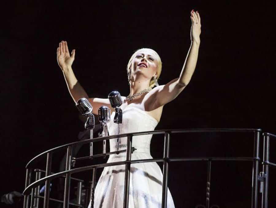 Emma Hatton in Evita at Phoenix Theatre