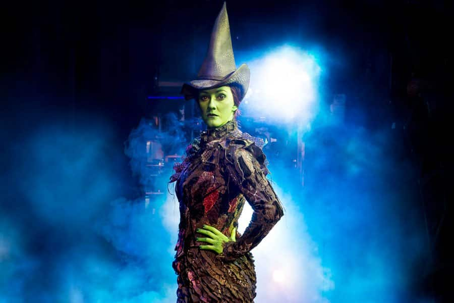 Alice Fearn playing Elphaba in Wicked London