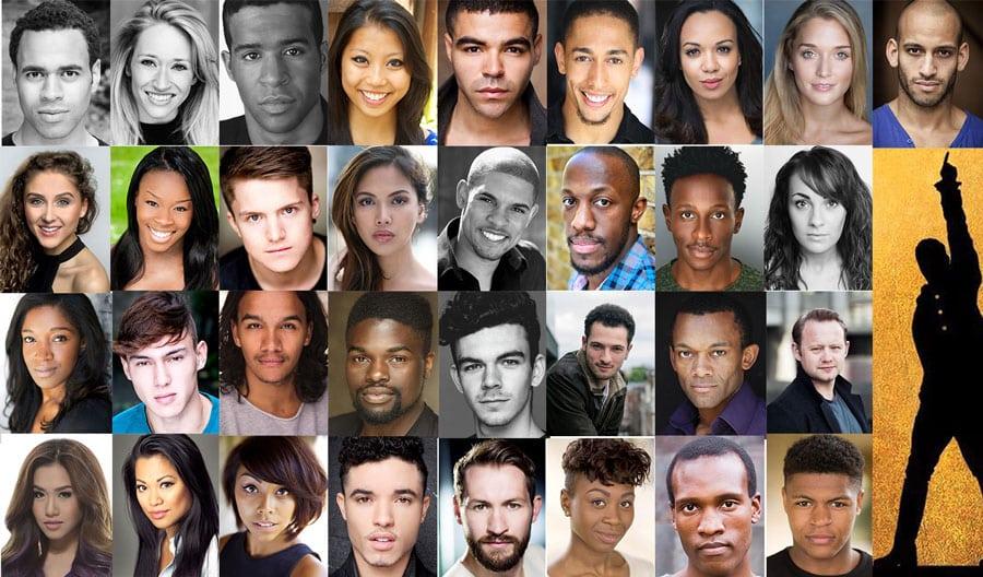 The cast of Hamilton London