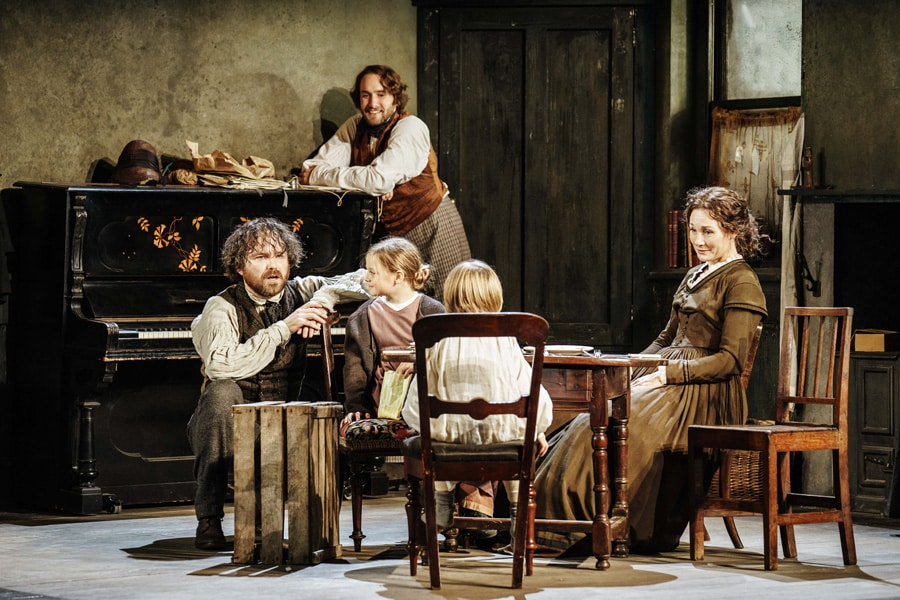 Young Marx premiere production at the Bridge Theatre London directed by Nicholas Hytner