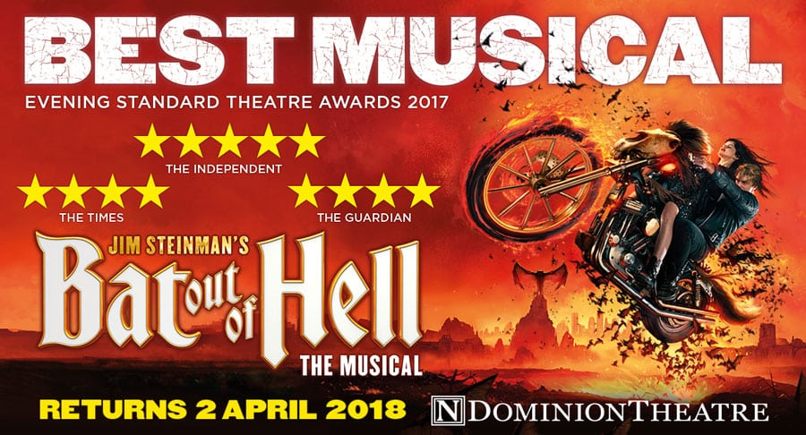 Bat Out Of Hell The Musical Dominion Theatre