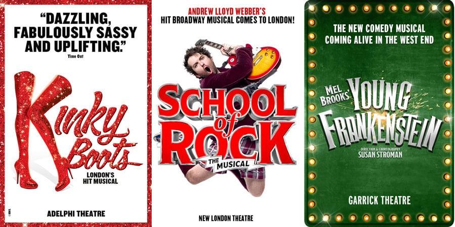 School Of Rock, Kinky Boots, Young Frankenstein