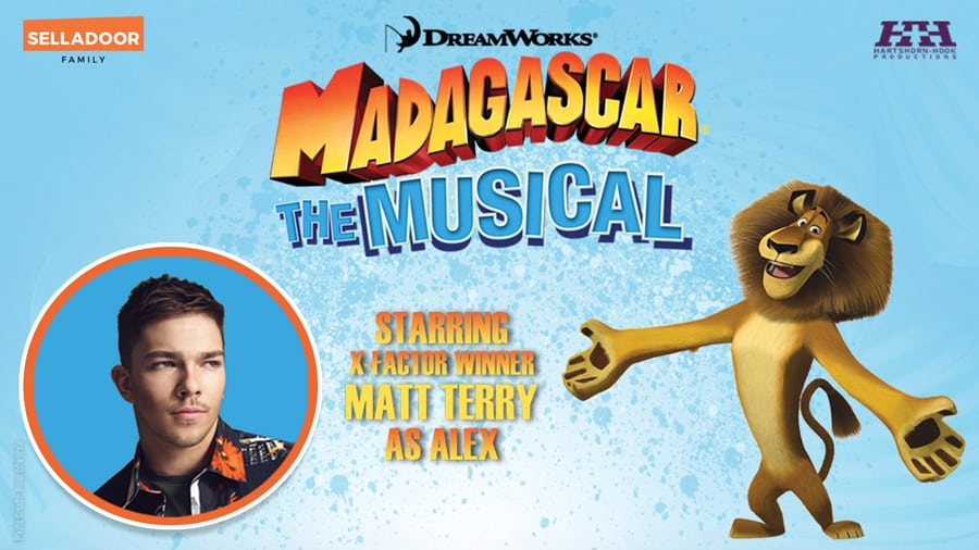 Matt Terry to star in Madagascar the musical UK tour