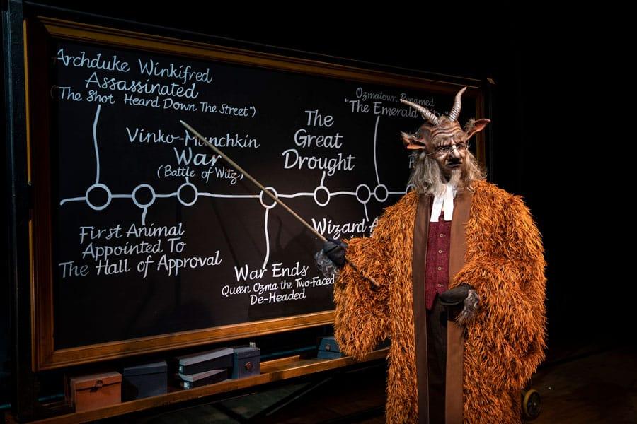 Chris Jarmin as Doctor Dillamond in Wicked London