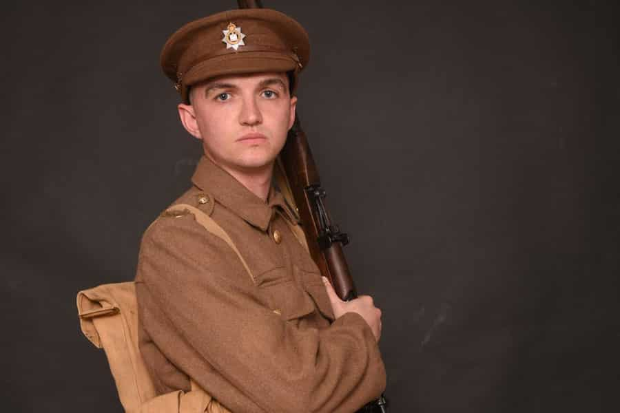 Will Taylor in Private Peaceful at Frinton Summer Theatre