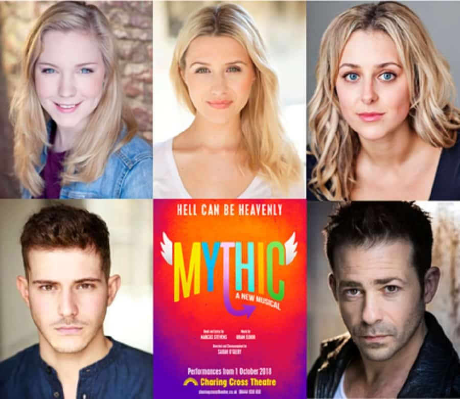 Mythic cast Charing Cross Theatre