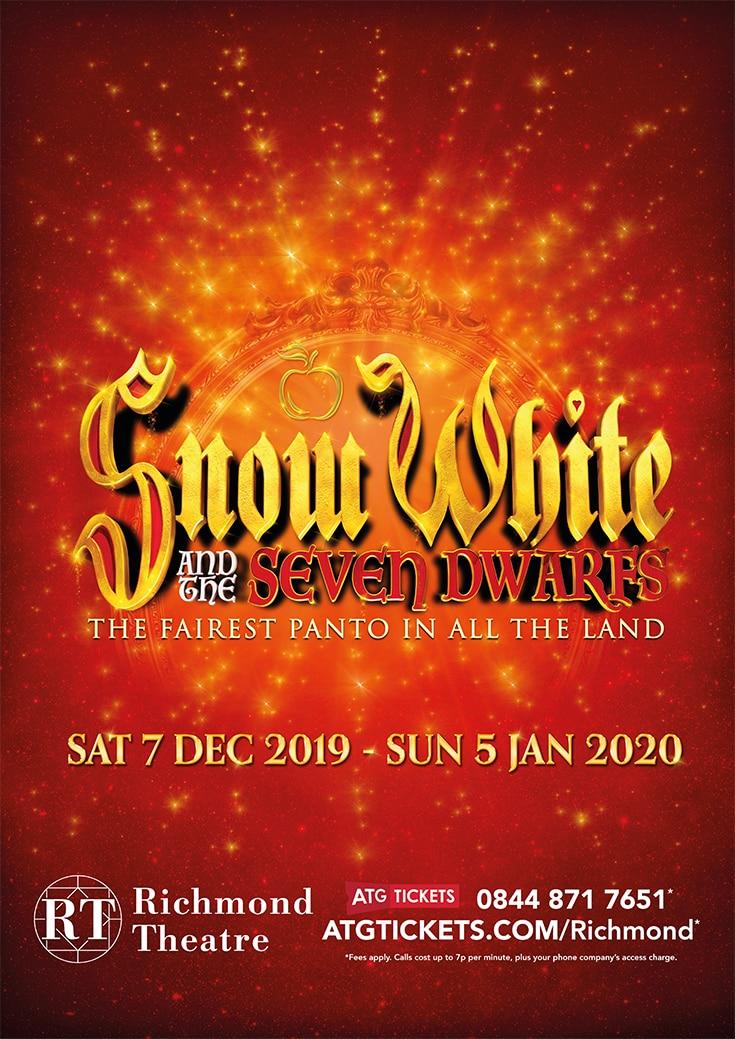 Christmas Panto Snow White is in Richmond Theatre 2019