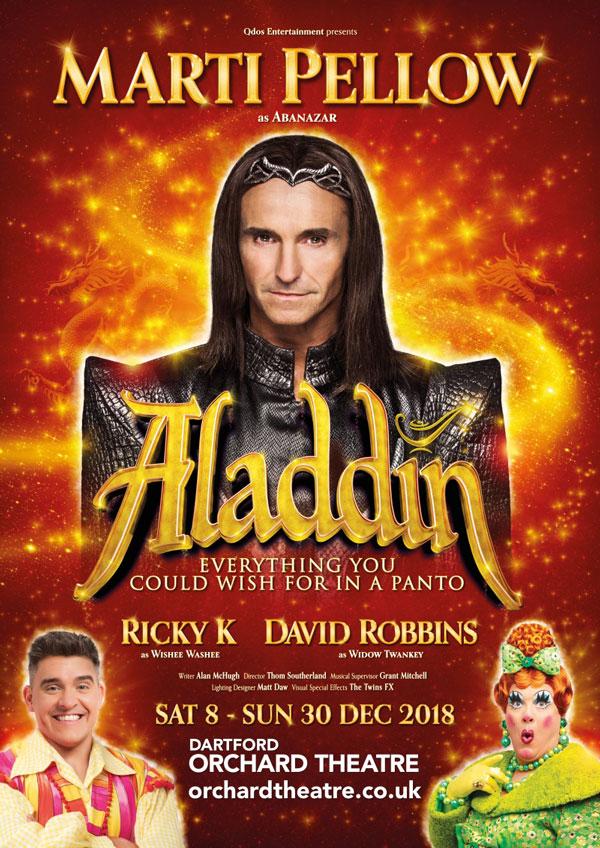 Aladdin Pantomime 2018 Dartford Poster